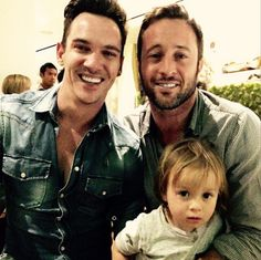"""Alex withJonathanRhysMeyers and Lion.  ♥♥♥  """"Thank you Alex and Malia for a delicious New Years dinner and great company. I love this lil Lion (and Spike)."""""""