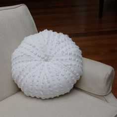 Recycled Chenille Sea Urching Pillow by Hepstyles on etsy $70