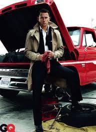who works on a truck dressed like that? doesnt matter, hes channing tatum