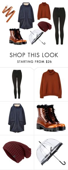 """""""rainy"""" by andram1d on Polyvore featuring moda, Topshop, Joules, Prada, Fulton ve H&M"""