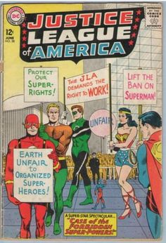 Justice League of America 28 Jun 1964 GD-VG (3.0) by CowtownComics on Etsy