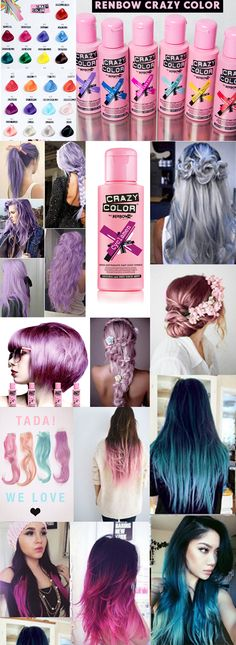 Renbow Crazy Colour! Temporary Hair colour. Super easy to use. Beautiful vibrant and pastel shades available. Or try ,mixing your own!