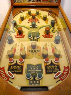 vintage pinball | Nowadays, the boom box noise of hip-hop and flashing gaudy lights seem ...