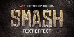 Smashed Rock Text Effect - Photoshop Roadmap