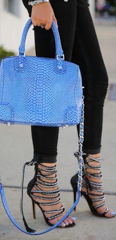 Zipper Heels w/a Pop of Blue <3