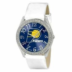 Indiana Pacers Ladies Watch - Designer Diamond Watch by Game Time. $39.95. 50 Crystal Stones-Water Resistant Up To 3 ATM. Stainless Steel And Leather. Officially Licensed Indiana Pacers Ladies Designer Diamond Watch. Women. Approximately 1 Inch Face. Indiana Pacers women's watch. This Pacers designer diamond watch features a metal case with 50 crystal stones. The watch is made of a patent leather strap, brass dial, stainless steel buckle, case back and crown. Japan quartz mo...