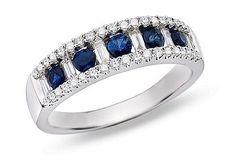 pretty sapphire and diamond ring