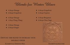 Wash those winter blues away by diffusing one of these invigorating blends.