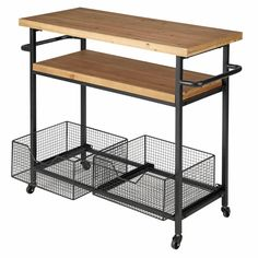 Metal and Wood Industrial Kitchen Trolley Bessie Affordable Furniture, Cheap Furniture, Kitchen Furniture, Kitchen Dining, Furniture Online, Furniture Dolly, Furniture Movers, Furniture Stores, Furniture Nyc