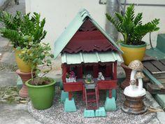 A traditional miniature Malay Rumah Melaka