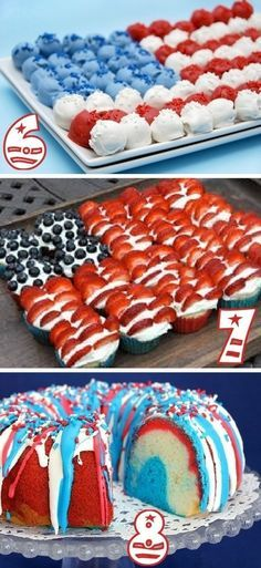 19 Red, White, Blue Party Ideas for forth of July!