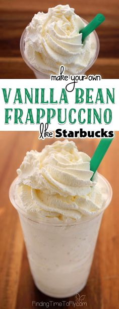 Danger, danger! This Vanilla Bean Frappuccino recipe is super simple. I may never purchase one again!