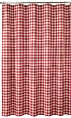 Amazon.com: Red Check Shower Curtain