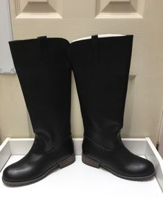 2e04e9648f39 Womens Ladies Black Low Block Heel Winter Casual Knee High Boots Size UK 5  New