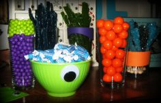 Monster birthday party {candy bar}