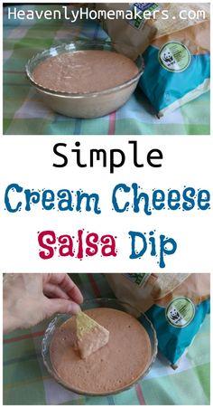 Simple Cream Cheese Salsa Dip