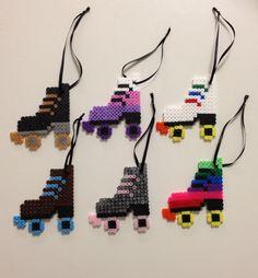 Roller Derby Skates! Hama perler beads.