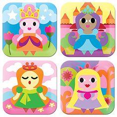 French Bull – BPA Free Children's Dinner Set – 8-Inch Melamine Kids Plate Set – Princess, Set of…