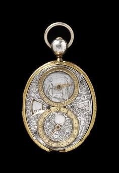 Watch. Place of origin: Blois, France (made). Date: 1620-30 (made) 20th century (restored). Artist/Maker: Nicolas Lemaindre (movement). Materials and Techniques: Engraved silver and gilt brass.