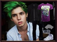 """Teen Titans-Beast Boy"" by fallinangle ❤ liked on Polyvore"