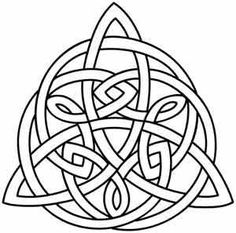 A triangular Celtic knot is perfect for pouches, journal covers, and more. --- I made this into a fun little coloring project Celtic Symbols, Celtic Art, Celtic Knots, Celtic Mandala, Celtic Crosses, Celtic Dragon, Paper Embroidery, Embroidery Patterns, Embroidery Stitches