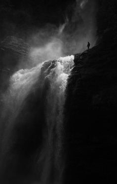 Overlooking the beauty of water falling from grace...amazing composition!