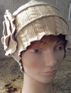 Wool Great Gatsby Hat Made From Recycled Sweaters on Etsy, $45.00