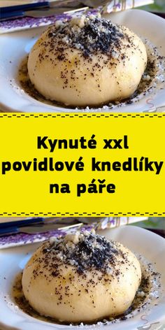 Kynuté xxl povidlové knedlíky na páře Cakes And More, Hamburger, Food And Drink, Bread, Cookies, Sweet, Table, Chef Recipes, Cooking