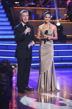 Dancing With The Stars: All-Stars Week 10 Tom Bergeron and Brooke Burke. Finals night.