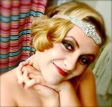 flapper hair & makeup