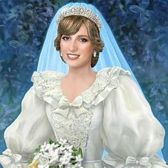Princess Diana Bride Figurine: Princess Of Our Hearts  On July 29, 1981, over one billion people around the world tuned in to watch as Lady Diana Spencer walked down the aisle of St. Paul's Cathedral and married Prince Charles. Now, in honor of Princess Diana and the 30th anniversary of her historic wedding, comes this spectacular bride figurine, available only from The Hamilton Collection.