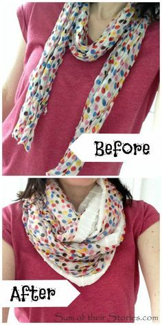 before and after scarf quick fix