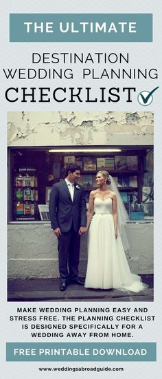 How to plan a destination wedding on a budget brokeandchic make your wedding abroad planning easy and stress free the destination wedding planning checklist has solutioingenieria Image collections