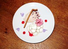 DINNER  Blackberry cream, Rose and Gin Caviar Gelee, Marbled Sweet Pastry, Raspberry Liquor & Violas.  SHOT BY NEIL GAVIN  FOOD OLIVIA BENNETT