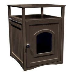 corner table litterbox | litter-box
