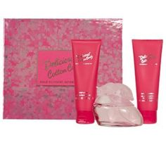 Gale Hayman Delicious Cotton Candy Fragrance Gift Set for Women by Gale Hayman. $19.49. 1 bath and shower gel 3.3 ounce. 1 body lotion 3.3 ounce. 1 eau de toilette spray 3.3 ounce. Delicious Cotton Candy was launched by the designer house of Gale Hayman in 2007. This scent possesses a blend of Orange, Bergamot, Clementine, Cotton Candy, Lilly of the Valley, Fig leaves, Brown Sugar, Strawberry, Plum, Licorice, Vanilla, Caramel, Cedar wood, and Musk.. Save 65% Off!
