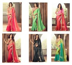"""Party Wear Sarees Designs: Fashionable Women's Latest Stylish Indian Saree With Trendy Blouse Online"" by designersandyou ❤ liked on Polyvore"