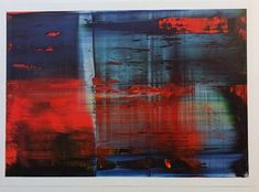 Available for sale from Alpha 137 Gallery, Gerhard Richter, Abstract Painting (one plate) Offset lithographic reproduction on GardaMatt Art Museum Of Modern Art, Art Museum, Gerhard Richter Painting, Art Informel, Caspar David Friedrich, San Francisco Museums, Abstract Pictures, Visual Effects