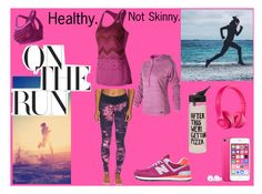 """Healthy, not skinny."" by mgragazzini ❤ liked on Polyvore featuring New Balance, Beats by Dr. Dre and ban.do"