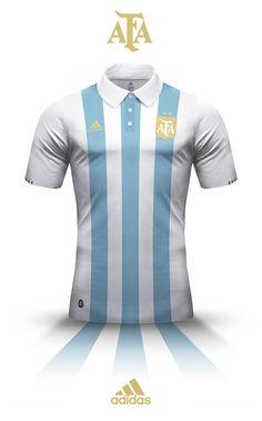 Este es el uniforme. El equipo de Argentina  llevaron éste. El uniforme es azul y blanco.