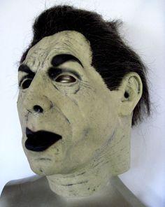 Very Rare Don Post Studios Bela Lugosi GLOWING Moonfan DRACULA Deluxe Full Head Mask!