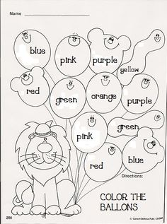 Archivo de álbumes Color Worksheets For Preschool, English Activities For Kids, Learning English For Kids, Preschool Colors, English Worksheets For Kids, Kids English, Color Activities, English Lessons, Teaching English