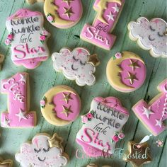 """166 Likes, 8 Comments - @colormefrosted on Instagram: """"Happy 1st Birthday Eliza and Stella! #colormefrosted #customcookies #madewithlove…"""""""