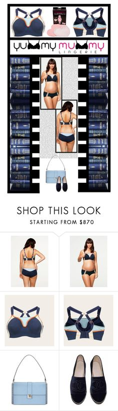 """""""YUMMY MUMMY LINGERIE (14)"""" by irresistible-livingdeadgirl ❤ liked on Polyvore featuring Cake Lingerie, Valentino, Chanel, navy, valentino, lingerie and maternity"""