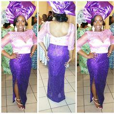#wedding #aseobi #nigerian #pinkandpurple