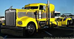Kenworth Custom Rig Yellow  www.Smart-Trucking.com