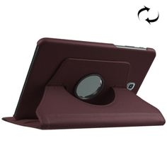 [$2.14] Litchi Texture Horizontal Flip Solid Color Leather Case with 360 Degrees Rotation Holder for Samsung Galaxy Tab S2 8.0 / T715(Coffee)