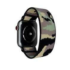 Buy Tefeca Camouflage Elastic Compatible/Replacement Band for Apple Watch (Black Adapter for Apple Watch, Wrist Size : inch Apple Watch Series 3, Apple Watch Bands, Camouflage, Smart Watch, Watches, Black, Smartwatch, Military Camouflage, Wristwatches