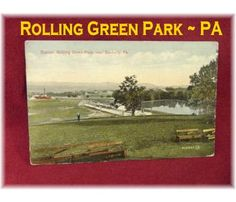 Mid 1900s ~ RARE Rolling Green Amusement Park Postcard ~ Sunbury Pennsylvania ~ Hummels Wharf & Selinsgrove PA Lewisburg - Antiques Vintage Postcards - $22  -  www.FindMeTreasure.com  CLICK TWICE ON PHOTO TO BUY