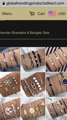 Bohemian Bracelets, Metal Bracelets, Bracelets For Men, Bangle Bracelets, Party Accessories, Jewelry Accessories, Women Jewelry, Oct 30, Bangle Set